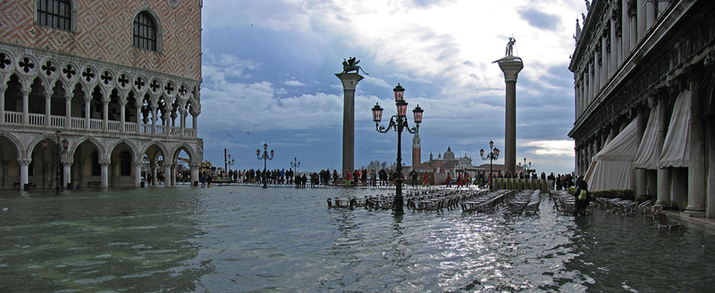 Venice Saint Mark's flooded