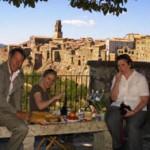 picnic in Pitigliano