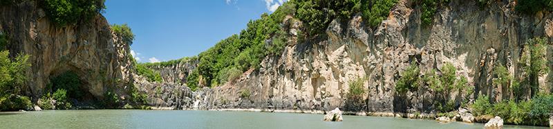 Vulci, lake Pellicone