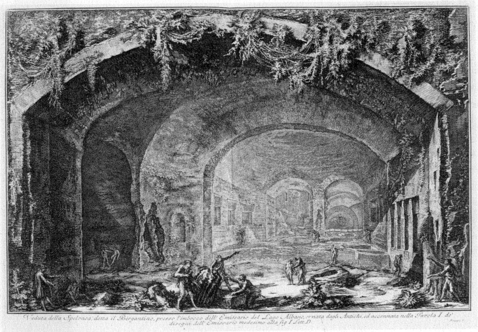 Piranesi Diana baths, Castelgandolfo Rome