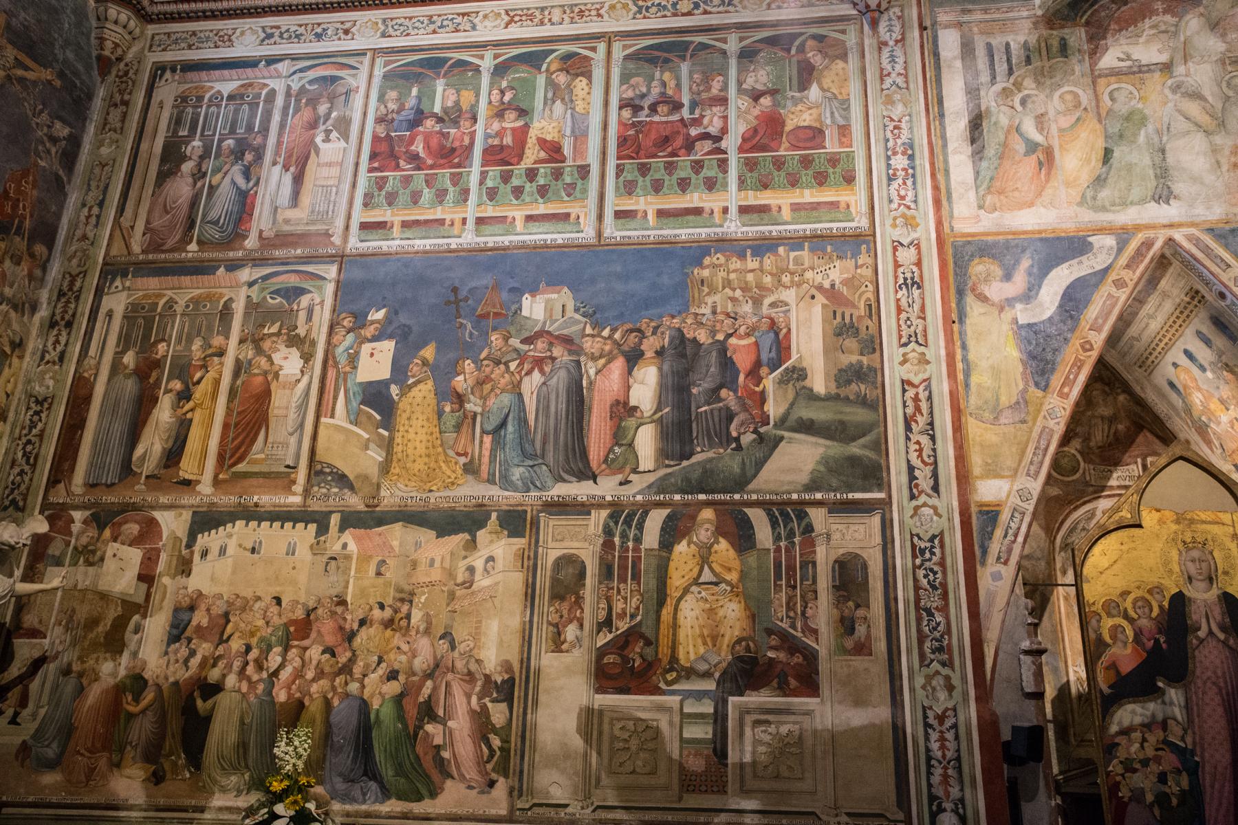 miracle Bolsena fresco,Orvieto