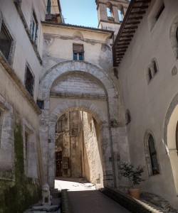 Spoleto , Porta Fuga,  from which Hannibal's army was repulsed in 217 BC
