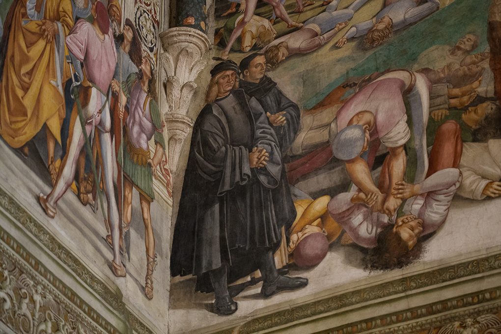 Signorelli self-portrait with Fra Angelico
