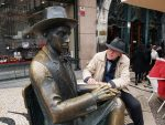 Photo workshops in Lisbon and the Algarve- Patrick and Pessoa statue