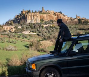 Land Rover outside Orvieto