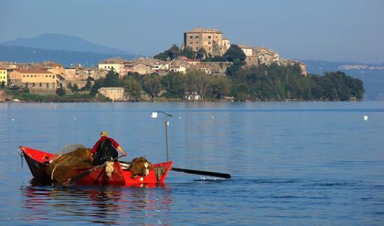 Bolsena fishing boat