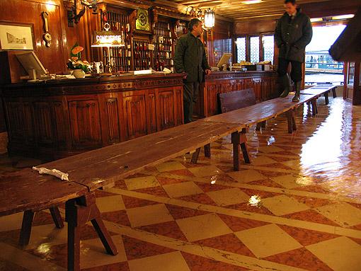 Hotel Danieli flooded