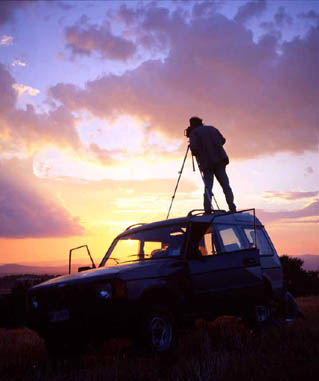 LandRover_ sunset