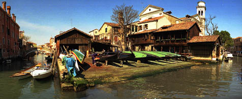 Squero, gondola building yard