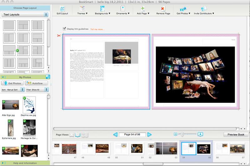 Blurb pagemaking layout