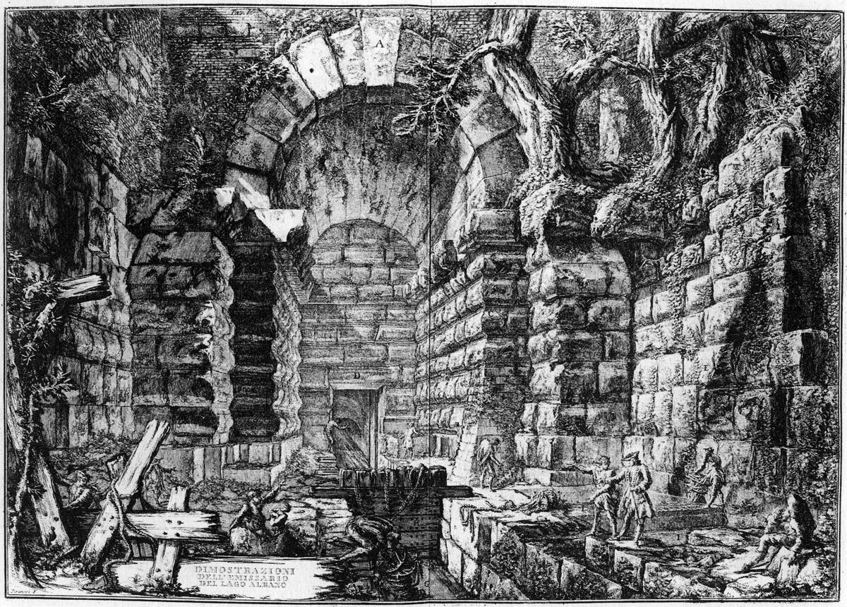 Piranesi tunnel.CastelGandolfo