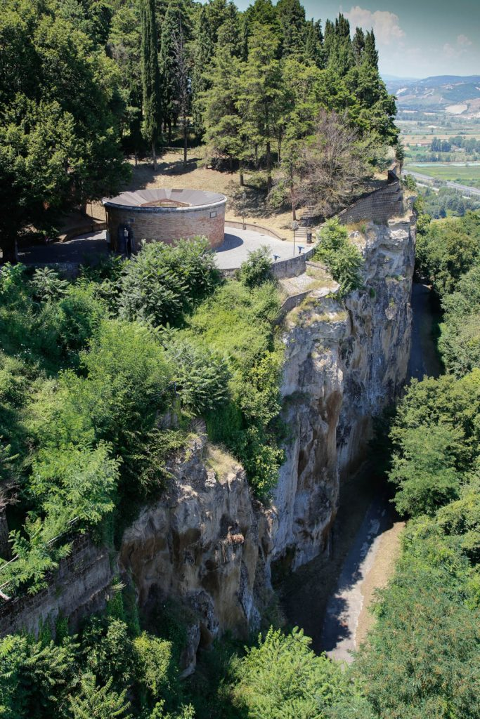 St Patrick's well seen from above the funicular