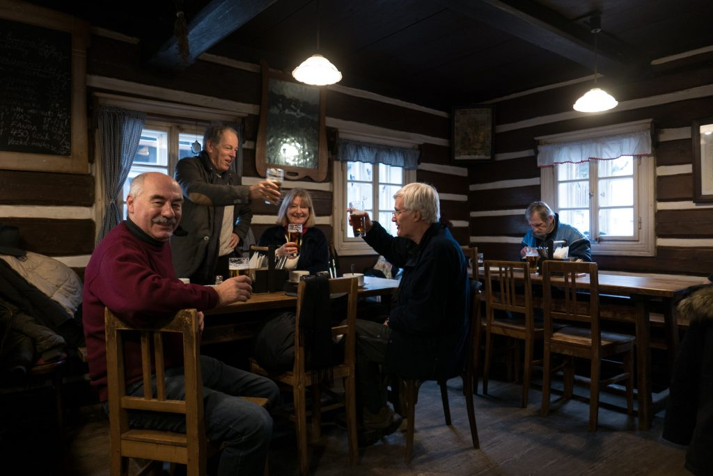Winter photo workshop in Bohemia. Pub lunch