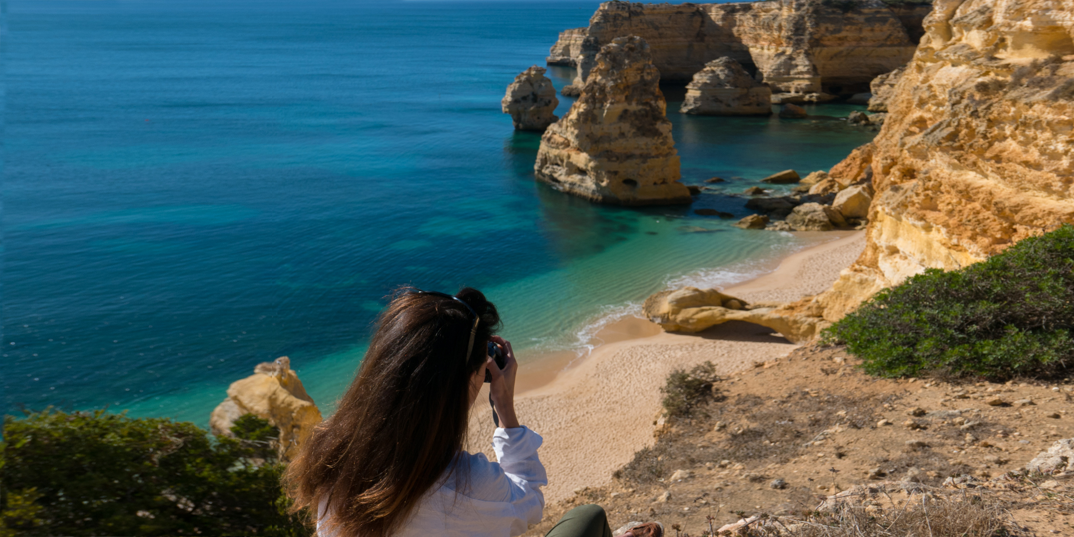 Photo workshops in Lisbon and the Algarve- Algarve: above the Benagil caves, the Benagil coast