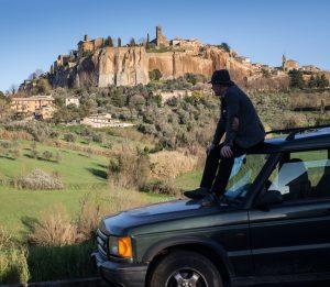 Land Rover outside Orvieto