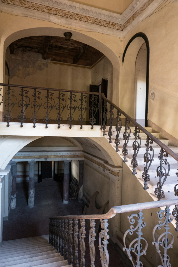 stairs leading to sleeping quarters-Medici Hostel Radicofani