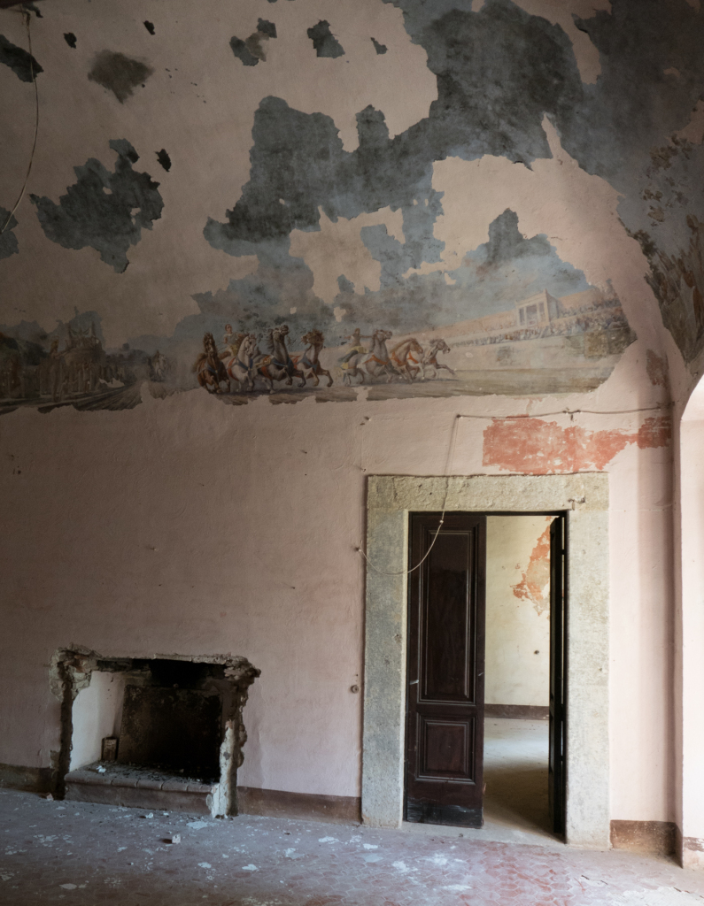 Radicofani.-The Popes' apartment had a fireplace with a chariot race fresco above