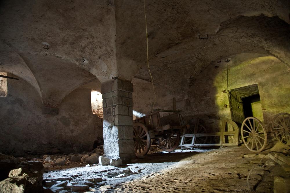 stables in basement of Medici Hostelry in Radicofani